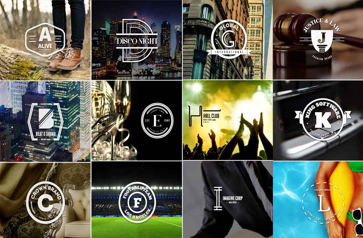 logotipai pagal raides