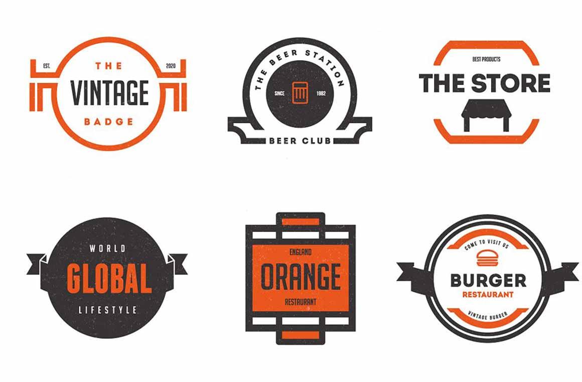 vintaziniai retro vektoriniai logotipai