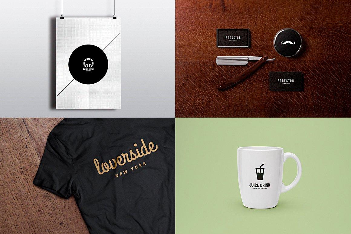 ivairaus stiliaus logotipo kurimas ir vizualizacijos